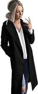 Winter Cardigan Womens Long Coat Lapel Parka Jacket Overcoat Outwear by TOPUNDE