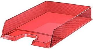 Esselte Corbeille à Courrier A4, Rouge Transparent, Europost Solea, 623601