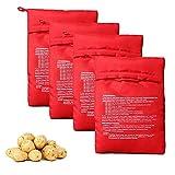 vipolish 4Pcs Microwave Potato Bag Reusable Microwave Cooker Bag Baked Potato Pouch Perfect Potatoes in Just 4 Minutes