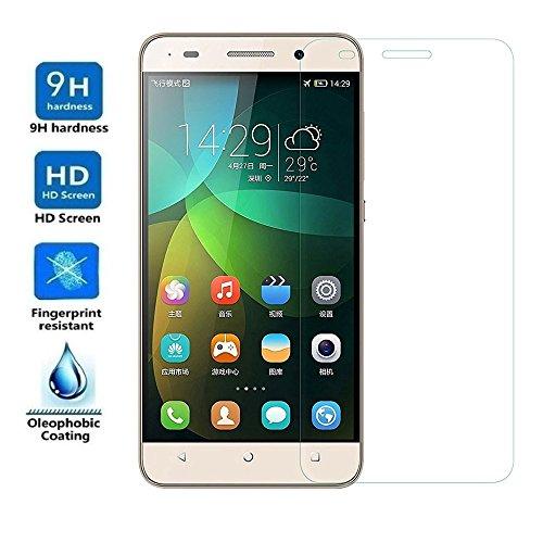 REY Protector de Pantalla para Huawei GT3 / Honor 5C / Honor 7 Lite, Cristal Vidrio Templado Premium