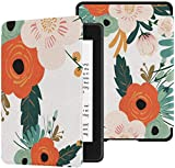 Colorful Star Case for All-New Kindle Paperwhite (10th Generation, 2018 Releases) - PU Leather Shell Cover with Auto Wake/Sleep for Amazon Kindle Paperwhite 2018 -Painted Flowers