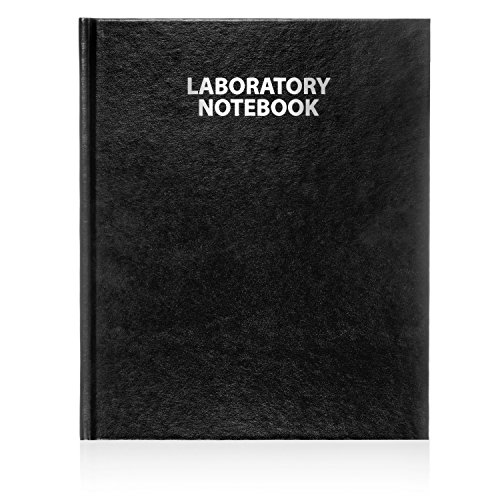 Scientific Notebook Company Case Bound, Model #2001Premium Research Laboratory Notebook, 192 Pages, Smyth Sewn, 9.25 X 11.25, 4x4 Grid (Black Cover)