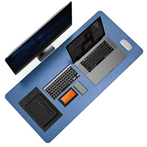 Alfombrilla de escritorio antideslizante, fácil de limpiar, impermeable, protector de escritorio 2021, de piel sintética,...