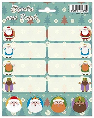 Etiquetas para Regalos de Navidad Marca Grupo Erik