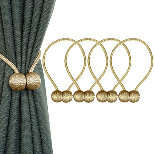 IHClink 4 Raffhalter mit Magneten, Klemme zum Halten Ihrer Vorhänge oder Gardinen, für Zuhause, Büro, Dekoration