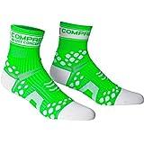 COMPRESSPORT Pro Racing V2 Run Hi Calcetines, Unisex, Verde/Blanco, 40-42