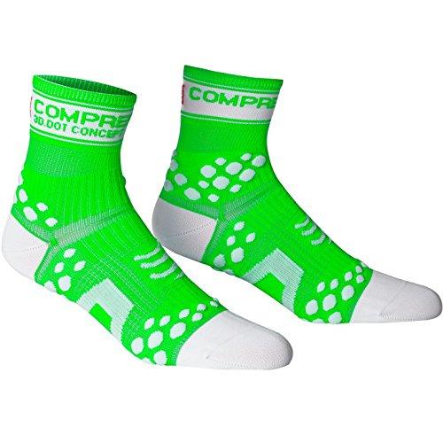 Calze compressione Compressport Proracing Run,Fluo Green ,40/42 (T3)