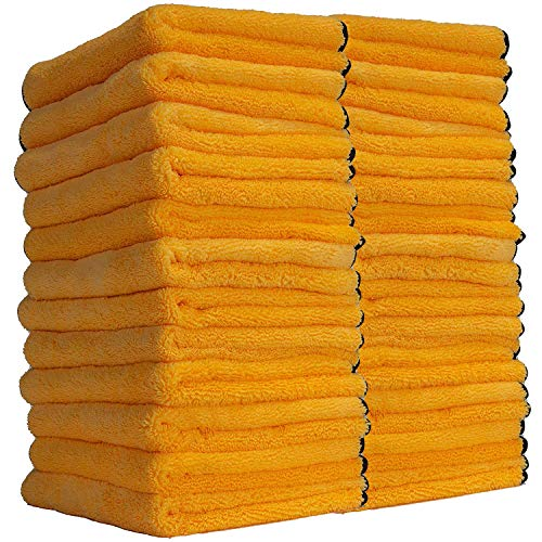 Chemical Guys MIC_506_24 Professional Grade Premium Microfiber Towels, Gold (16 Inch x 16 Inch) (Pack of 24)