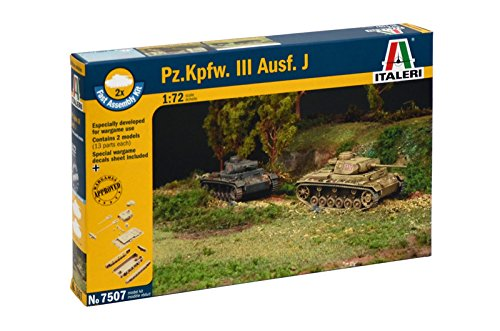 Italeri 7507 - Pz. Kpfw. III J - Fast Assembly (2 Pcs) Model Kit Scala 1:72