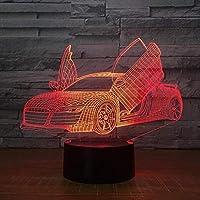 はさみドアスーパーカー3Dランプ7色子供用LEDナイトランプタッチLEDUsbテーブルランプランプスリーピングナイトライト