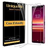 UniqueMe [3Pack] Schutzfolie Kompatibel mit Sony Xperia 5 Panzerglas, Sony Xperia 5 Folie, HD klar gehärtetes Glas Bildschirmschutz
