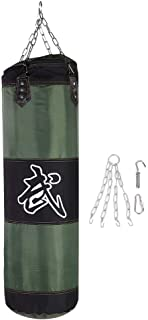 VGEBY 3+1 Boxing Pouching Bag, Empty Chain Hollow Hanging Taekwondo Boxing Training Fitness Pouch Sand Bag