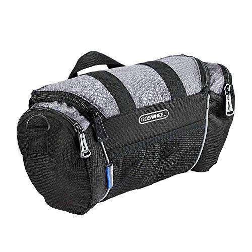 Roswheel 11494 5L Capacity Bike Front Handlebar Bag Bicycle Basket Cycling Accessories Pack, Grey