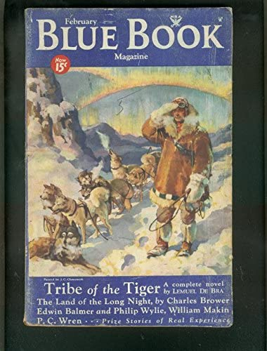 BLUE Sale special price BOOK PULP-FEB 1934-PHILIP WYLIE-TRIBE Easy-to-use OF TIGER-SF min -good