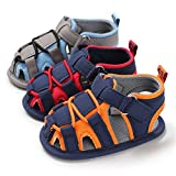 Timatego Infant Baby Boys Girls Summer Sandals Soft Sole Anti-Slip Newborn Toddler First Walkers Crib Athletic Shoes, baby boy sandals 6-12 Months Infant, 03 Blue