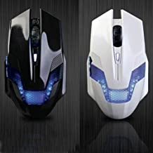 A-JAZZ Green Hornet USB Wired Variable Speed 2000DPI Optical Gaming Mouse with LED Light - White
