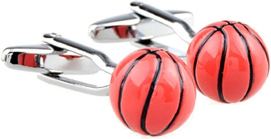 MRCUFF Basketball 3D Pair Cufflinks in a Presentation Gift Box & Polishing Cloth