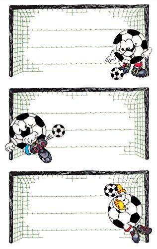 AVERY Zweckform 59290 BuchEtiketten Fußball (starker Halt) 9 Aufkleber