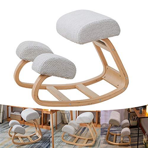Silla de rodillas ergonómica para oficina, mecedora de corrección de postura, taburete para silla de rodillas, taburete basculante para el hogar para escritorio de ordenador, cojín de 11 cm de grosor