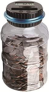 Piggy Bank-Digital Piggy Bank Coin Savings Counter LCD Counting Money Jar Change Bottle XHC88