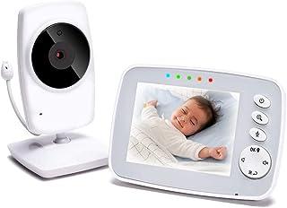 TOPERSUN Baby Phone 8,2 cm babymonitor 2,4 GHz babykamera med LCD nattsynskamera HD digital video och dubbelriktad interco...