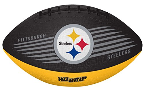 Rawlings NFL Pittsburgh Steelers 07731082111NFL Downfield Football (All Team Options), Yellow, Youth