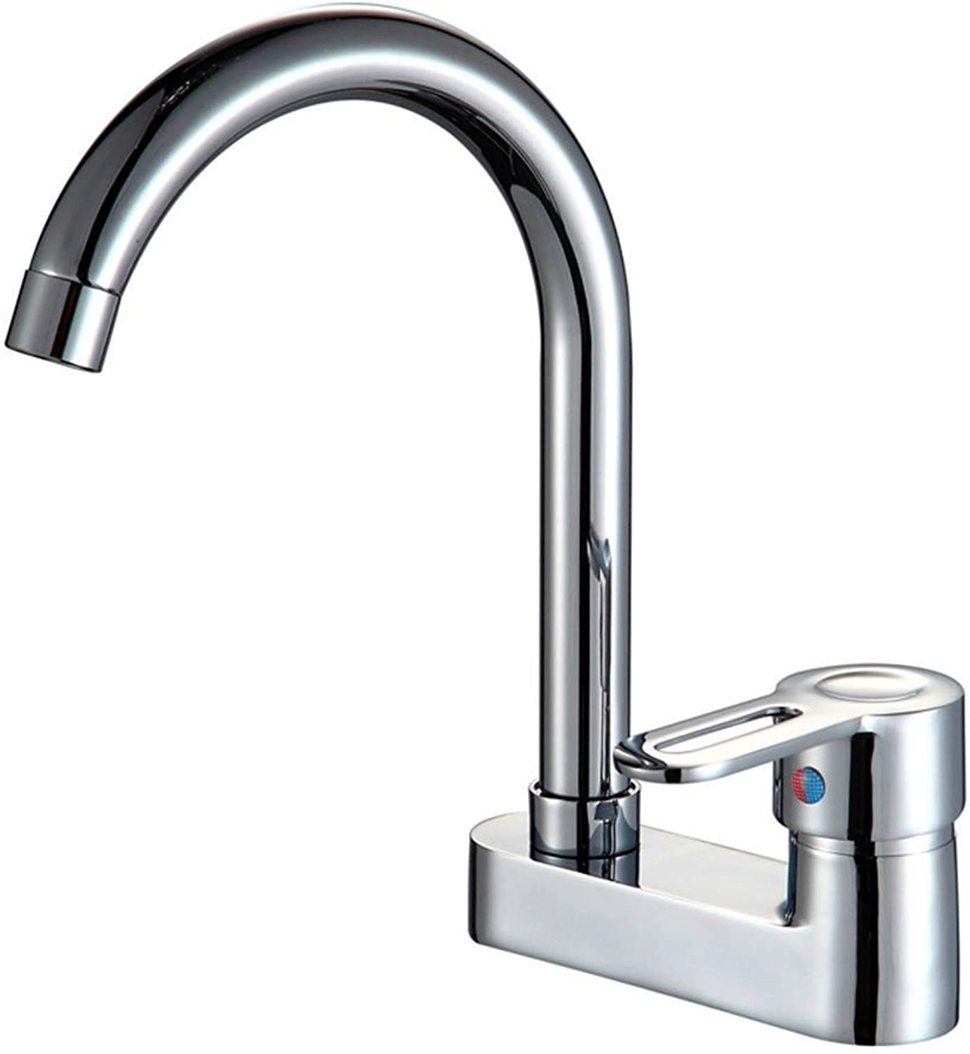 Lalaky Taps Faucet Kitchen Mixer Sink Waterfall Bathroom Mixer Basin Mixer Tap for Kitchen Bathroom and Washroom Hot and Cold Double Hole