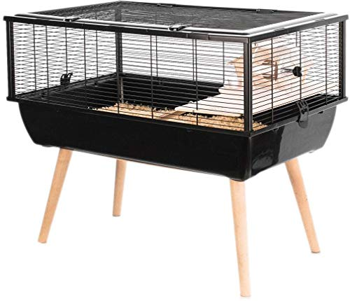 Zolux Cage Neo Nigha Petit Rongeur L 77.5 X P 47.5 X H 64.5 Cm Noire