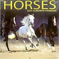 馬 2021 12ヶ月カレンダー