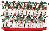 HEITMANN DECO Navidad - Clips de Madera para el Calendario de Adviento con Correa de suspensión - Pinzas Decoradas con Renos y abetos