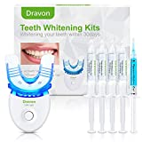 Teeth Whitening, Teeth Whitener, Bright Teeth Whitening Kit, 4 Syringes of 5ml Professional 35% Carbamide Peroxide Tooth Whitening Gel,LED Light, Mouth Tray.