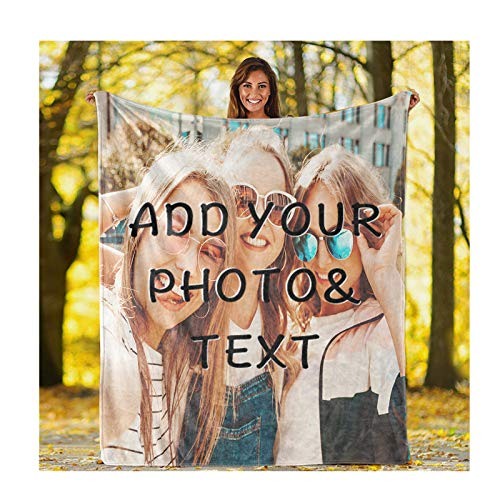 JINFU Fotodecke Personalisiert,Fotodecke mit Eigenem Foto Name Super Weich - Decke Selbst Gestalten Bedrucken Lassen Kuscheldecke Personalisierte Geschenk fotodecke (200x150cm)