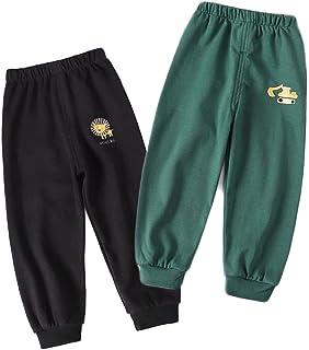 XM-Amigo Pantalones de algodón puro para niños y niñas, pantalones de primavera y otoño, pantalones casuales, pantalones d...
