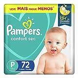 Fralda Pampers Confort Sec P 72 Unidades