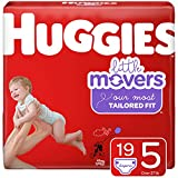 Huggies Little Movers Baby Diapers, Size 5, 19 Ct