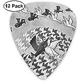 12 Pack Púas de guitarra Plectrums Fish Birds Flying Celluloid Guitar Pick Set para guitarra eléctrica acústica Bass Mandolin Ukulele 0.46mm 0.71mm 0.96mm
