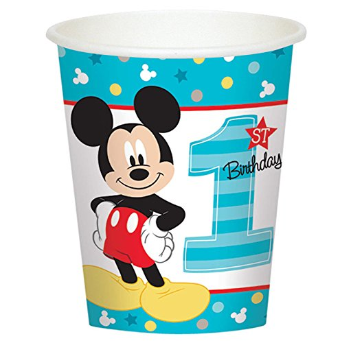 Affordable Mickey Mouse 1st Birthday Party Supplies 48 Pack Paper Cups