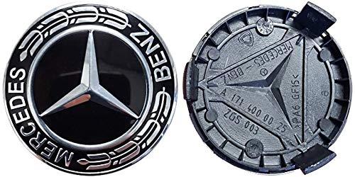 JXUS Conjunto Frenchic Mercedes Black Trigo de 2 OEM Benz Wheel Center Caps Hubcaps 75mm / 3 Pulgadas (Color : Multi-Colored)
