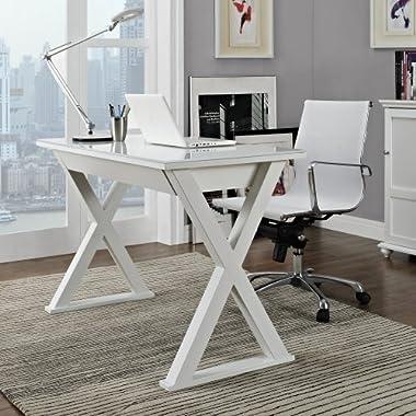 WE Furniture 48  Storage Computer Desk, White
