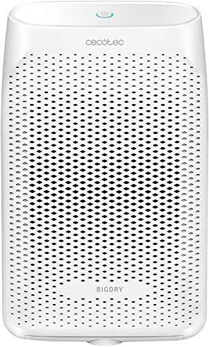 Cecotec Deshumidificador BigDry 2500 Essential 360-750 ml/día,depósito Transparente de 2 litros, Cobertura hasta 25 m2, Filtro extraíble y Lavable, Apagado automático