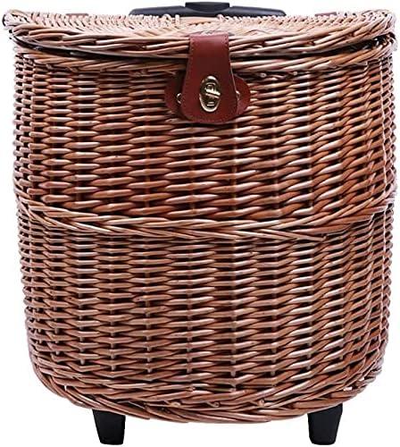 ZHANGWW Super Safety and trust sale Handmade Garden Picnic Trolley Basket Baskets Mul