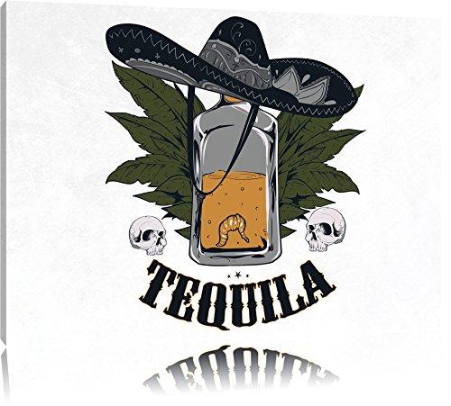 Worm Tequila LightFoto Canvas | Maat: 120x80 cm | Wanddecoraties | Kunstdruk | Volledig gemonteerd
