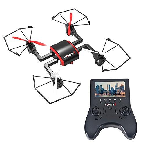 Tech rc Mini Drone with Camera – Focus Drones with Camera and Drones for Beginners w/ 720p Drone Camera and FPV Video Drone Monitor Remote Control