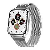 KKZ 2021 Smart Watch Men IP68 Impermeable Impermeable 1.78 Pulgadas Pantalla Inteligente Reloj Ladies Ritmo Cardíaco Ritmo Arterial Monitor De Seguimiento De Fitness Reloj para Android iOS,C
