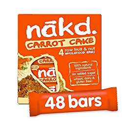 ALL NATURAL – These healthy snack bars are made with 100% natural ingredients, just fruit and nuts smooshed together! GLUTEN FREE – Nakd Carrot Cake is a delicious wheat free and gluten free fruit and nut bar. HEALTHY SNACK – One of your five a day, ...
