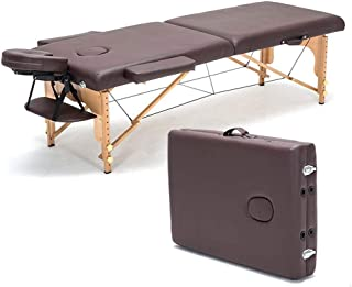 Portable Massage Table Professional 2-Section Massage Table Adjustable Facial SPA Bed Tattoo Beauty Salon Device