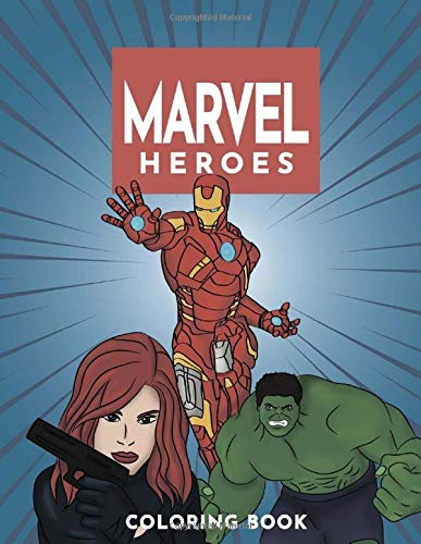 Marvel Heroes Coloring Book: Avengers Coloring Book, Captain America, Guardians of the Galaxy, Spider…
