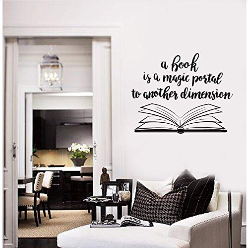Knncch Offenes Buch Design   Wandaufkleberbibliothek Home Interior Decor Bücherwand Aufkleber Removable Open Bücher Vinyl Wand Poster