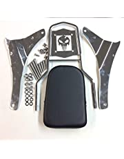 Htt grupo motocicleta cromo cráneo respaldo Sissy Bar para 2005–2012Suzuki Boulevard M50VZ800C50VL800C50T vl800t C50C vl800C/2001–2004Suzuki Intruder Volusia 800VL800