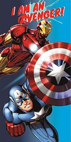 Marvel – Vengadores Toalla de playa 100% algodón, 140 x 70 cm I'am Avenger